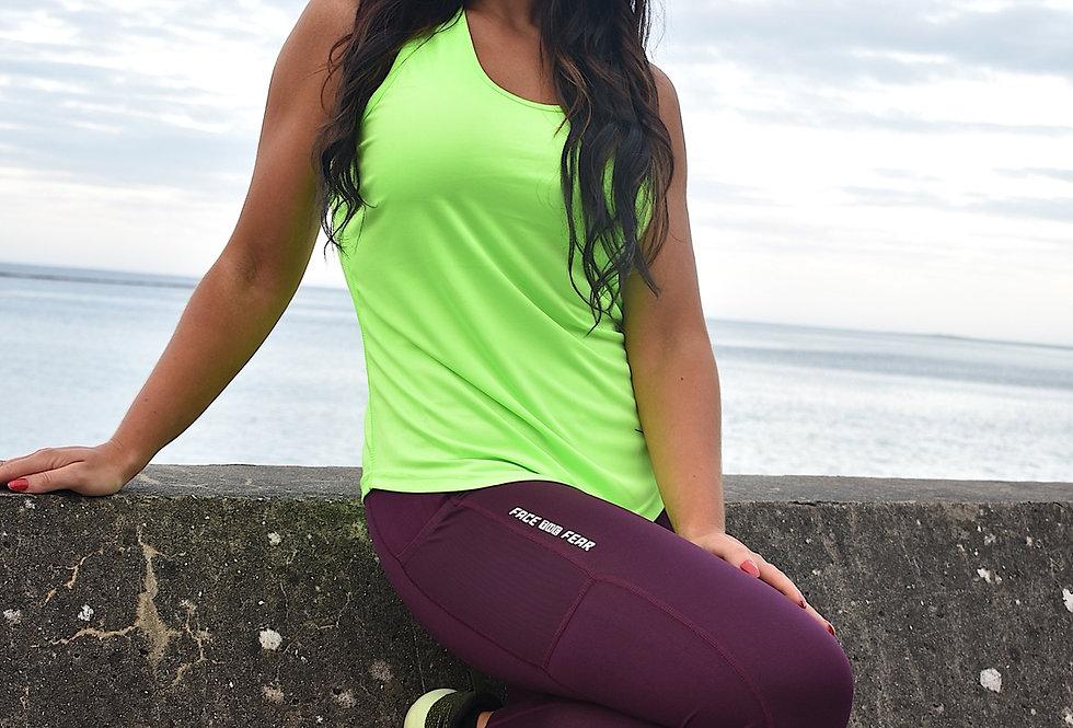 Women's Strap Back Vest - Lightening Green