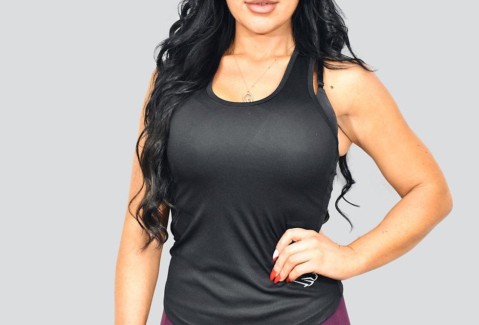 Women's Strap Back Vest - Black