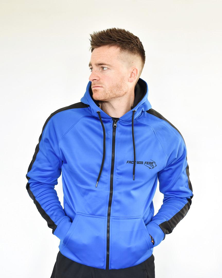 Men's Premium Sports Zip Up - Royal Blue/Black