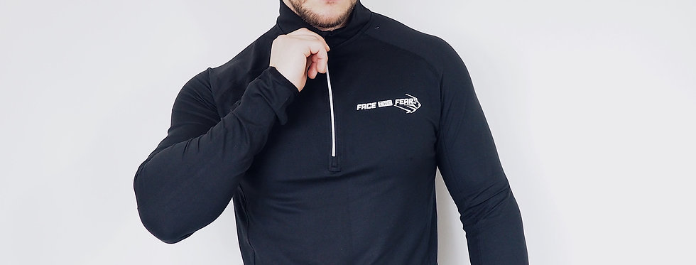 Men's Performance 1/2 Zip - Black