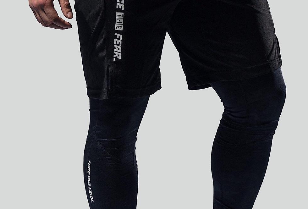 Men's Training Leggings - Black Camo