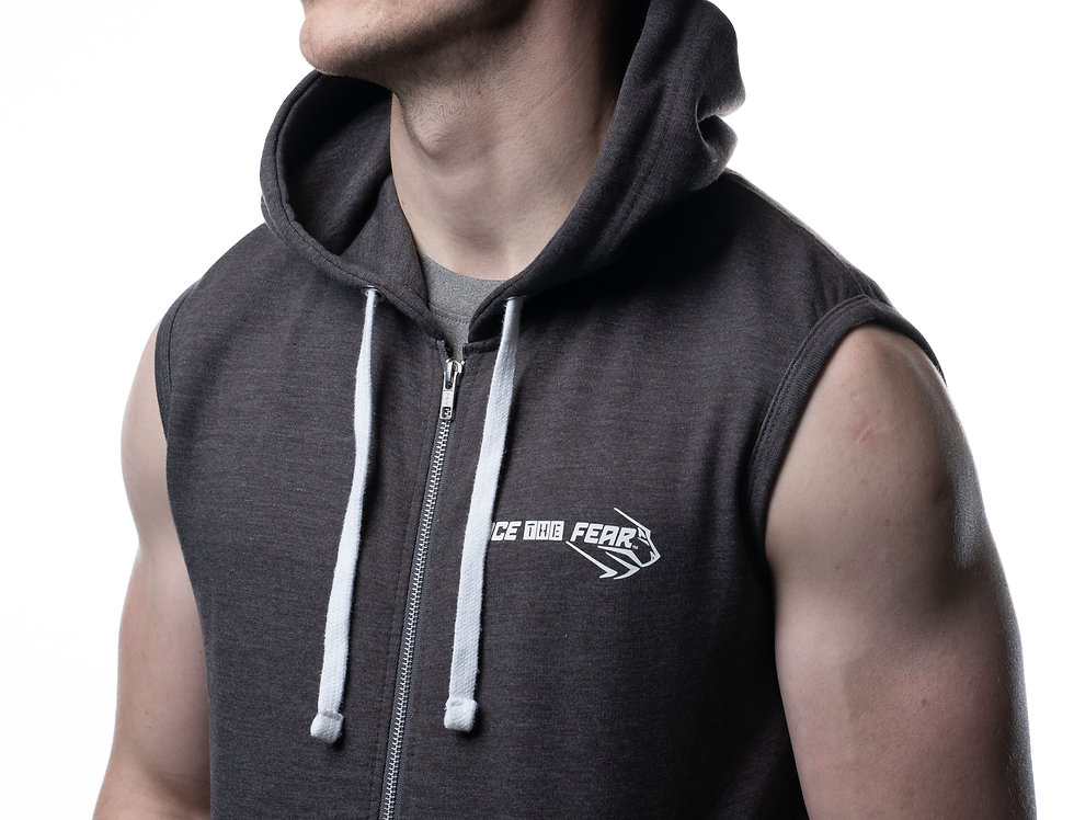 Men's Sleeveless Hoodie - Charcoal