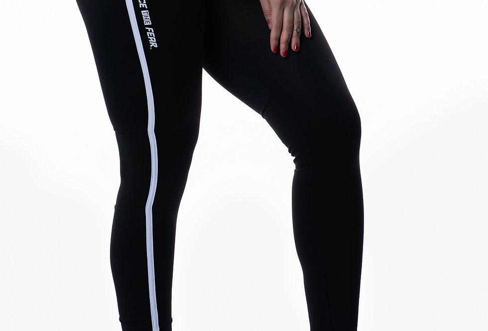 Women's Contrast Leggings - Black/White