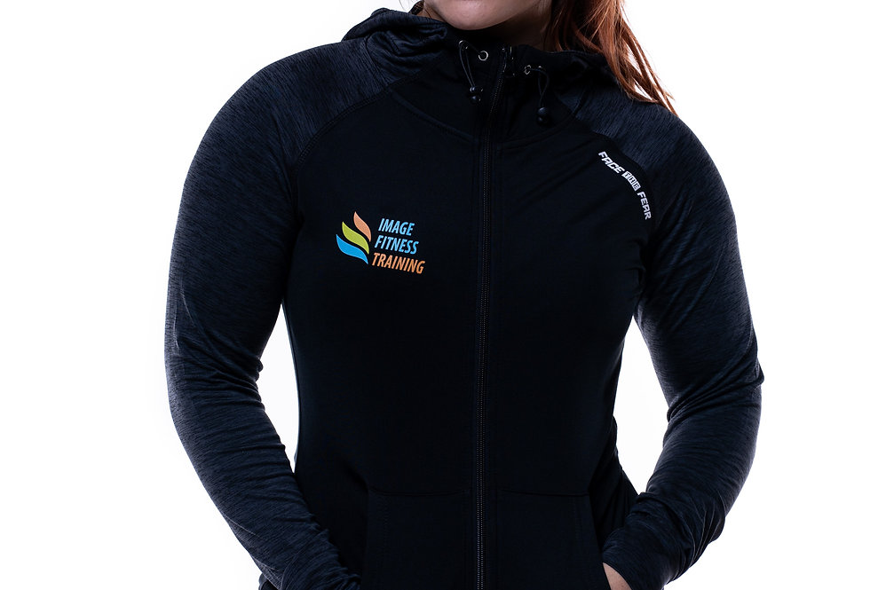 IF Women's Contrast Sports Hoodie - Black