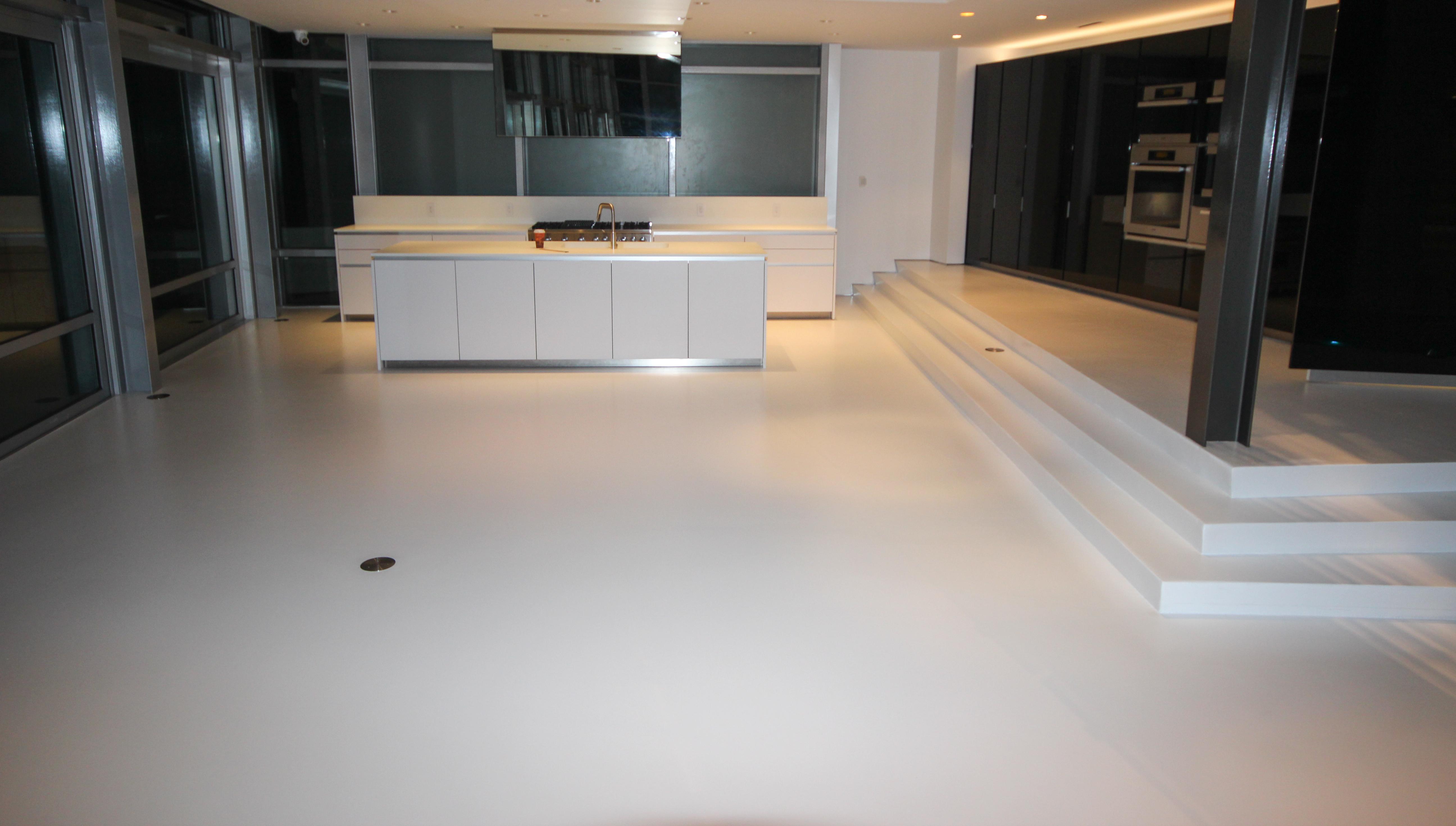 Manhattan White Epoxy Floor