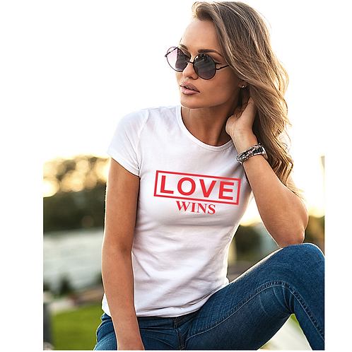 Love Wins T-Shirt (fitted tee)