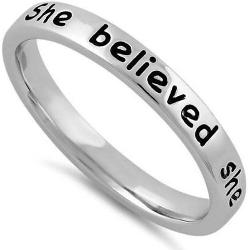 She Believed She Could...Sterling Silver Ring