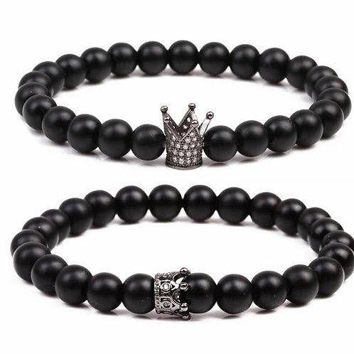 Queen n Slim Matte Black Bracelets