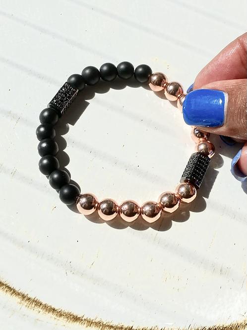 Black Rose Pave Bracelet