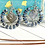 Thumbnail: Blue Element Hoop Earrings