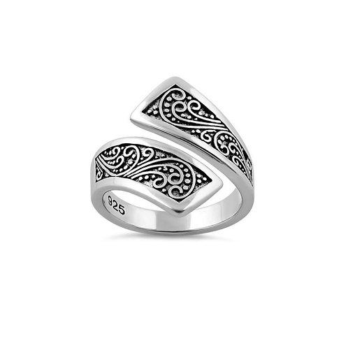 Sterling Silver Bali Swirl Ring
