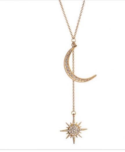 Star n Moon Drop Necklace