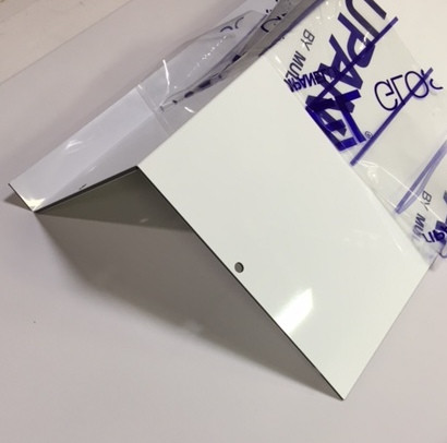 Custom fabricated ACM Glossy white panel
