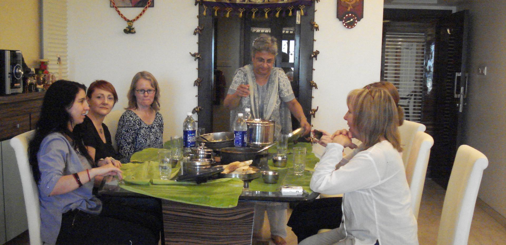 Left to Right: Melissa Major, Trina Davies, Beverley Cooper, Arundhati, Jornal Hall, Sally Stubbs
