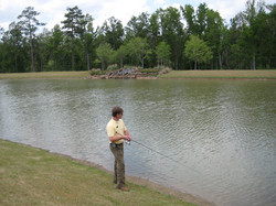 Fishing in Stocked Lake