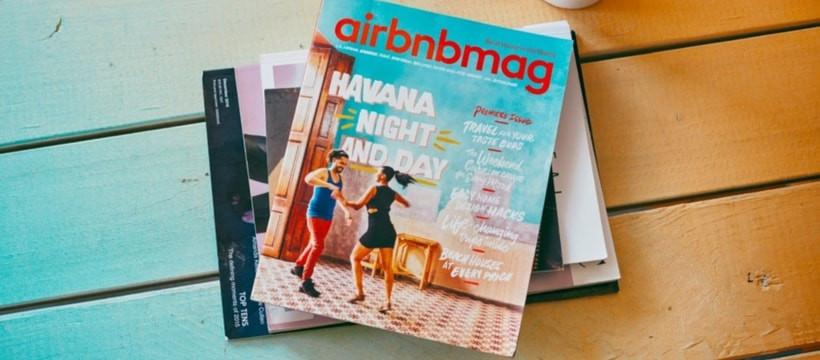 Airbnbmag, le magazine print d'Airbnb