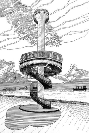 Amber beacon tower