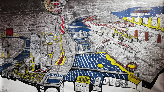 «Lyon 2044»                                 Performance pour le 25e anniversaire de Passagers des Villes  en collaboration avec les artistes @nkl @xyrostudio