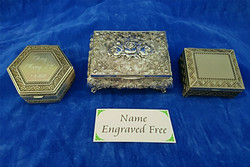 Engraved jewellery boxes