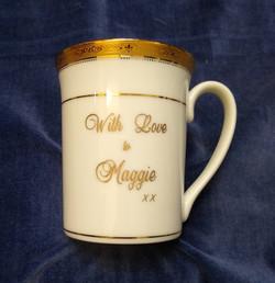 Personallised engraved gift mug