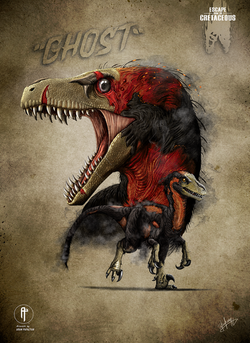 Ghost Dromeosaurus vertical-book-sm