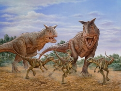 Carnotaurus after Gasparinisaurs-(s)
