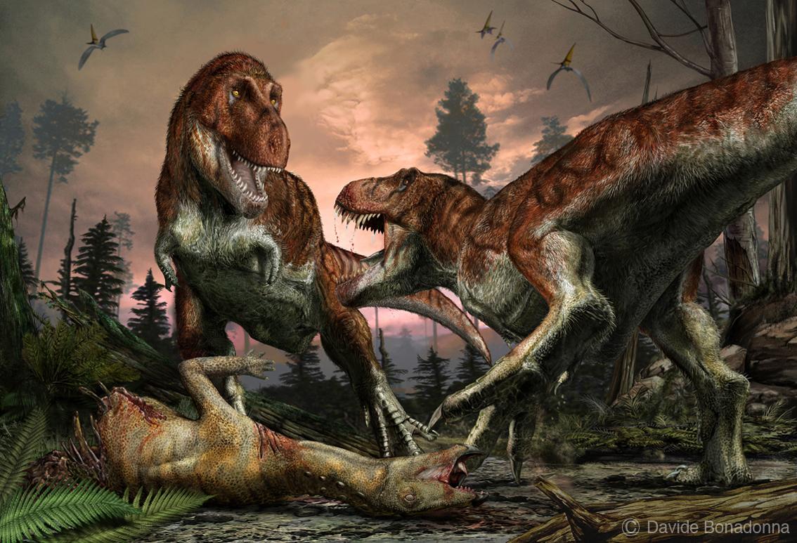 02-Tyrannosaurus-and-Thescelosaurus-1