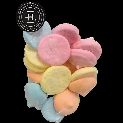 Guimauves colorés à saveurs 125g