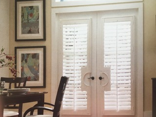 Wood Shutters - UV Water Based Paint & Stained basswood