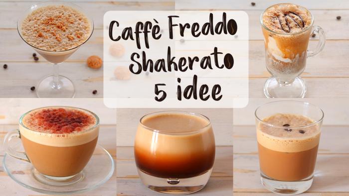 Caffè freddo shakerato: 5 idee