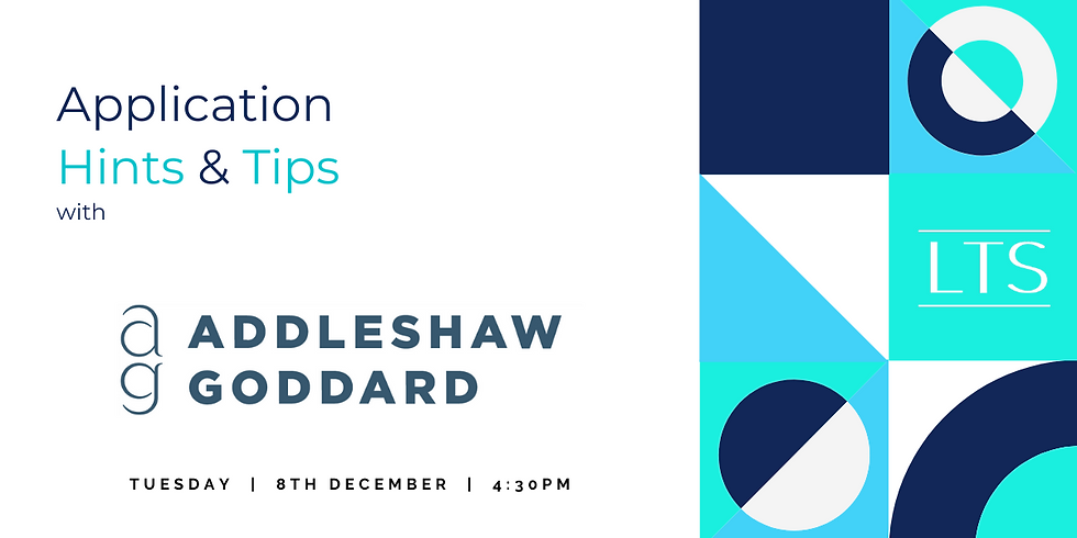 Application Hints & Tips with Addleshaw Goddard