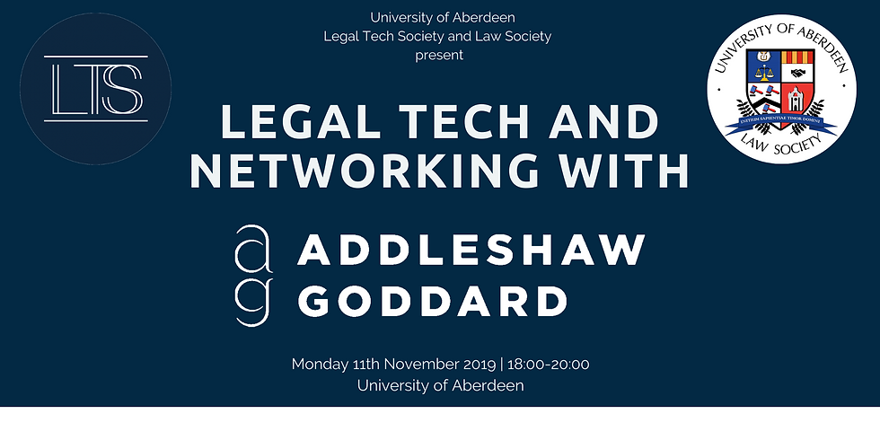 Legal Tech and Networking with Addleshaw Goddard