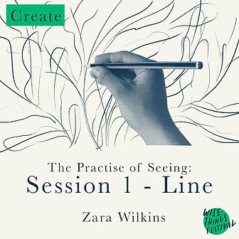 The practise of seeing: Session 1 - Line. Zara Wilkins
