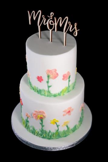 Buttercream Floral Wedding Cake