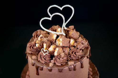 Chocolate Heart Wedding Cake
