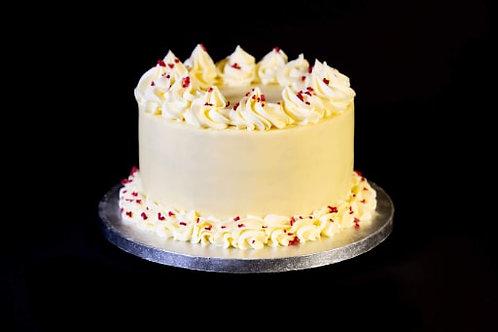 White Chocolate and Raspberry Layer Cake