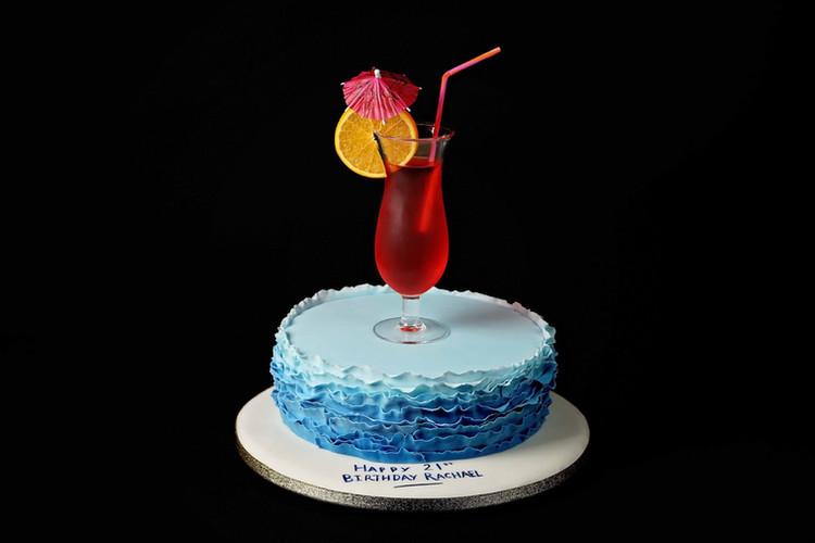 Cocktail inspired Birthday Cake