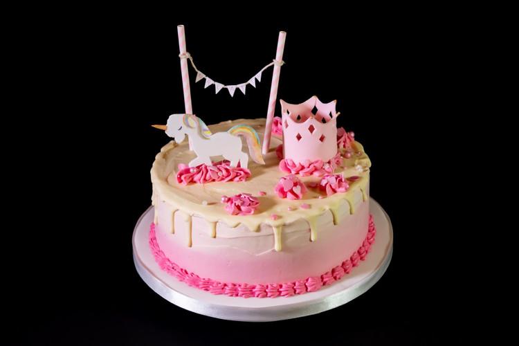 Unicorn and Princess Birthday Cake