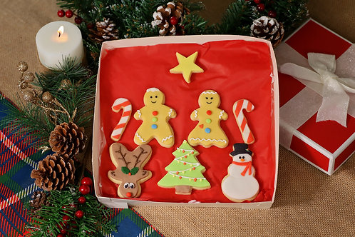 Gingerbread Christmas Biscuit Box