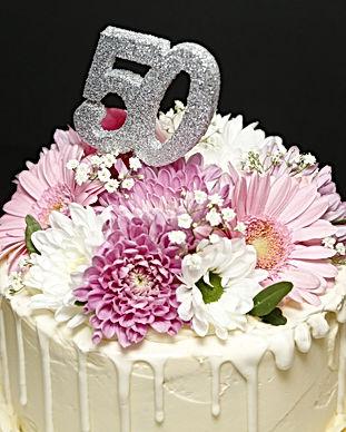 50th Birthday Flower Celebration Birthda