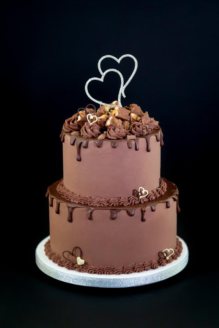 Chocolate Drip Wedding Cake