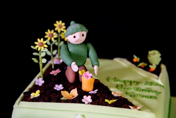 Gardener Birthday Cake