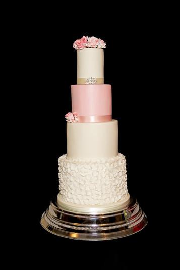 Elegant Pink Wedding Cake