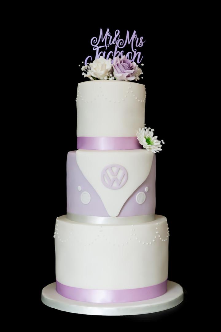 Volkswagon inspired Wedding Cake