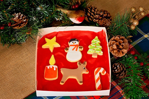 Mini Christmas Decorated Biscuit Box