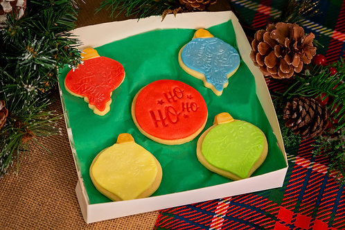 Christmas Baubles Biscuit Box