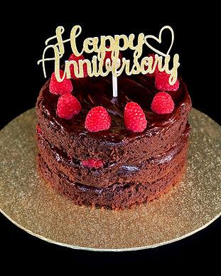 Anniversary Cake Chocolate Vegan Raspber