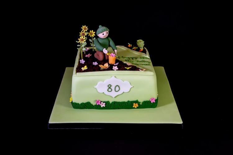 Gardener 80th Birthday Cake