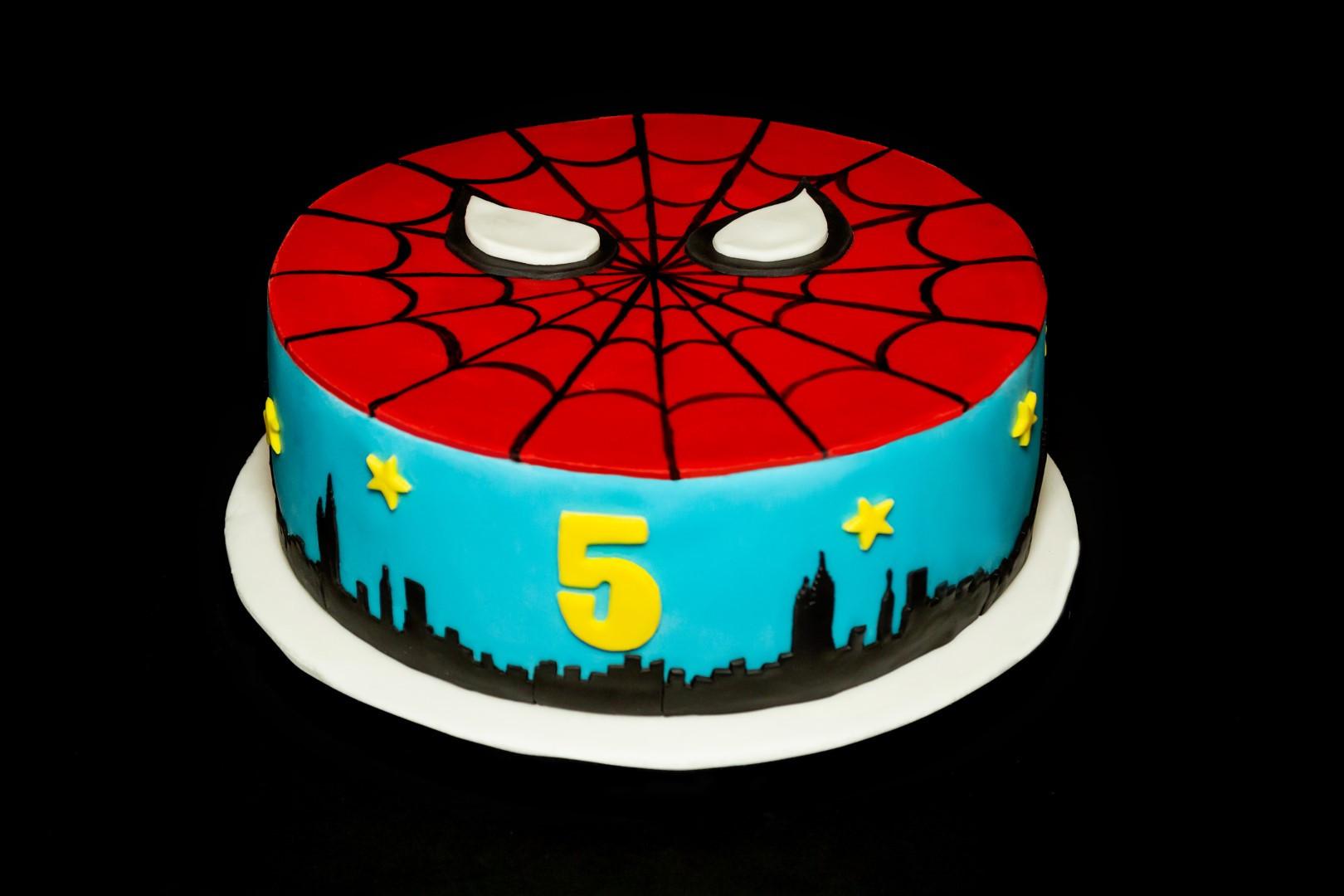 Superhero 5th Birthday Cake