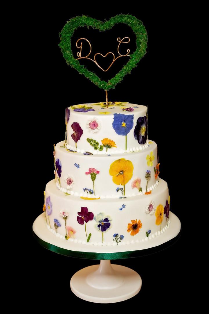 Edible Flower Wedding Cake